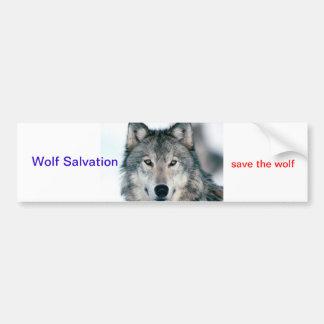 Wolf Salvation Bumper Sticker Car Bumper Sticker