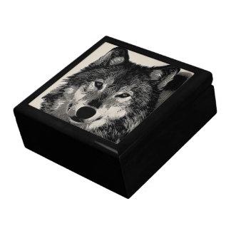 Wolf Scrimshaw Effect Gift Box