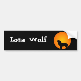 Wolf Silhouette Car Bumper Sticker