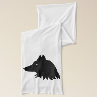 Wolf Silhouette Scarf