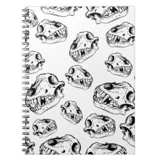 Wolf skulls note books