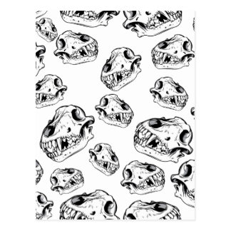 Wolf skulls postcard
