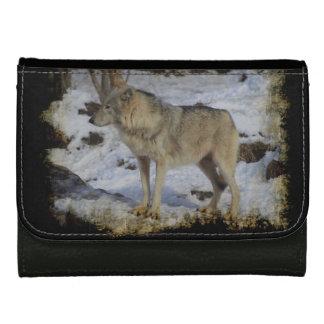 Wolf & Snow Wolf-Lover Wild Animal Alpha Male Wallet
