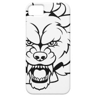 Wolf Soccer Mascot Breaking Background Barely There iPhone 5 Case