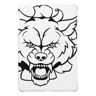 Wolf Soccer Mascot Breaking Background iPad Mini Case