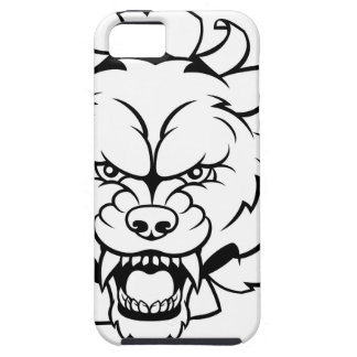 Wolf Soccer Mascot Breaking Background iPhone 5 Case
