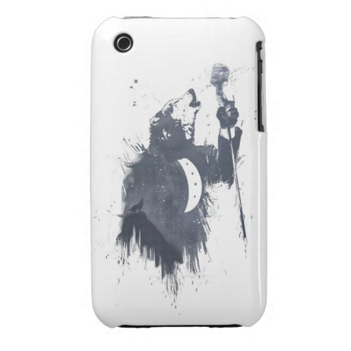 wolf song (blue) iPhone 3 Case-Mate cases