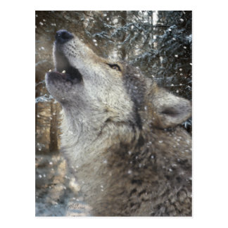 Wolf Song - Pastel Postcard
