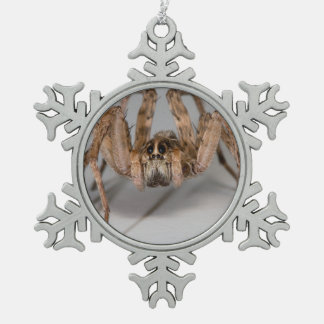 Wolf Spider Snowflake Pewter Christmas Ornament