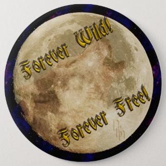 wolf spirit 6 cm round badge