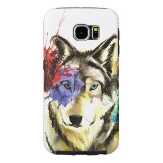 Wolf Splatter Samsung Galaxy S6 Cases
