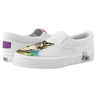Wolf Splatter Slip On Shoes