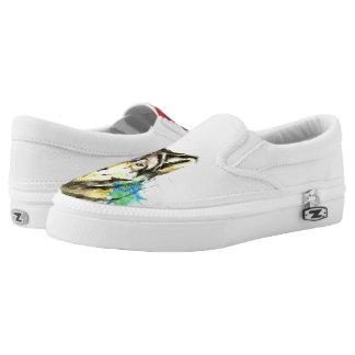 Wolf Splatter Slip-On Shoes