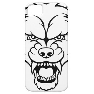 Wolf Sports Mascot Angry Face Barely There iPhone 5 Case