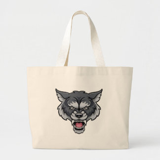 Wolf Sports Mascot Large Tote Bag