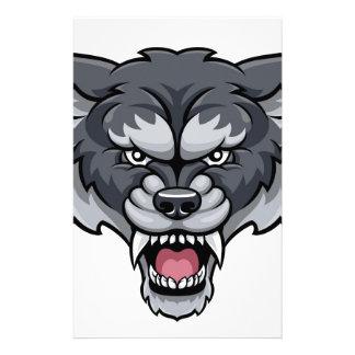 Wolf Sports Mascot Stationery
