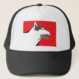 wolf stone trucker hat