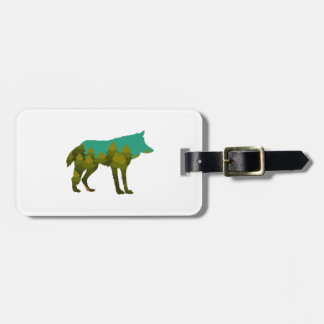 Wolf stroll luggage tag