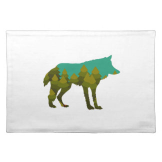 Wolf stroll placemat