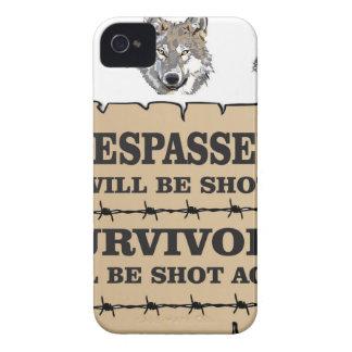 wolf survivor yeah iPhone 4 Case-Mate case