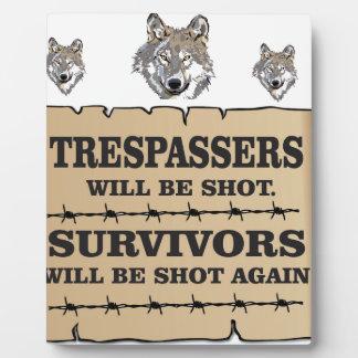 wolf survivor yeah plaque