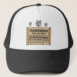 wolf survivor yeah trucker hat
