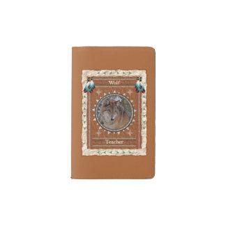 Wolf  -Teacher- Notebook Moleskin Cover