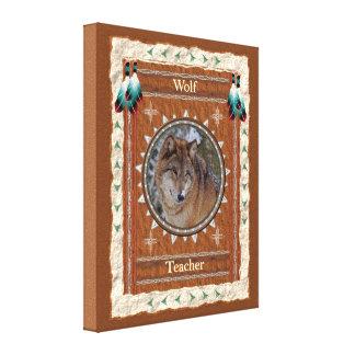Wolf  -Teacher- Wrapped Canvas