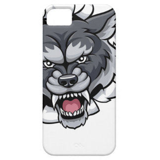 Wolf Tennis Mascot Breaking Background iPhone 5 Cover
