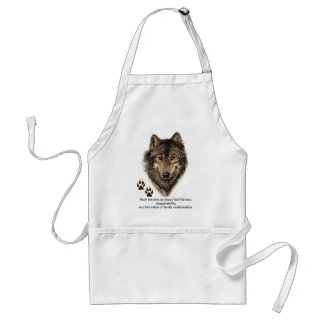 Wolf Totem, Animal Guide Inspirational Adult Apron