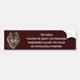 Wolf Totem, Animal Guide Inspirational Car Bumper Sticker