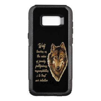 Wolf Totem Animal Spirit Guide for Inspiration OtterBox Commuter Samsung Galaxy S8+ Case