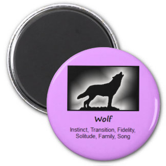 Wolf Totem Animal Spirit Meaning 6 Cm Round Magnet