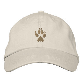 Wolf Track Embroidered Baseball Cap