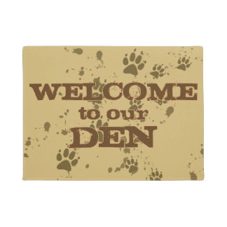 Wolf Tracks (Welcome To Our Den) Doormat
