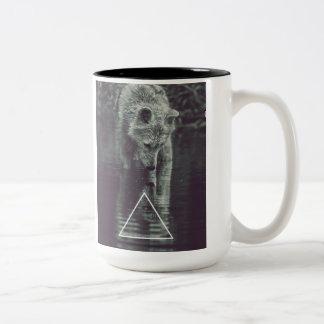 wolf Two-Tone coffee mug
