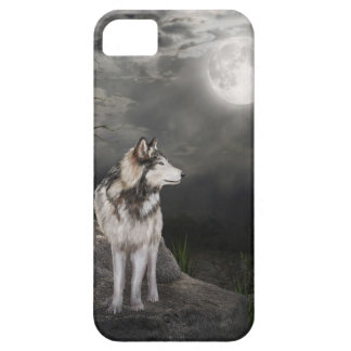 Wolf under a full moon case for the iPhone 5