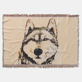 Wolf Watch Throw Blanket