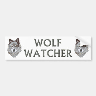 wolf watcher car bumper sticker