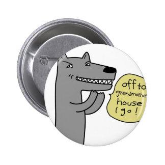 Wolf (white) 6 cm round badge