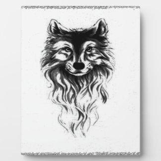 Wolf wild plaque