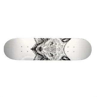 wolf wings skate board deck
