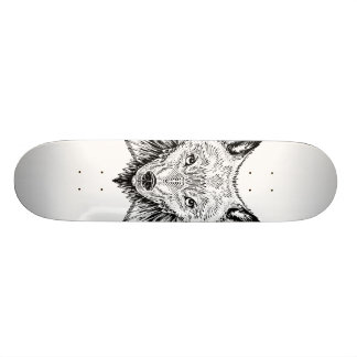 wolf wings skateboard deck