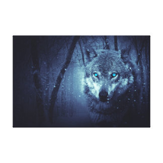 Wolf-winter Canvas Print