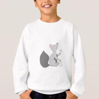 Wolf with snowballs sweatshirt