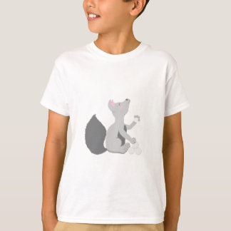 Wolf with snowballs T-Shirt