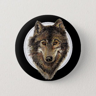 Wolf, Wolves, Watercolor Animal, Nature 6 Cm Round Badge
