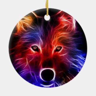 Wolf Wonder Ceramic Ornament