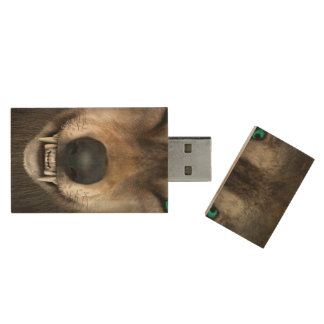 Wolf Wood USB Flash Drive