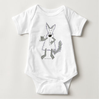 wolf you are there, Designed by Plume of Mouse Baby Bodysuit